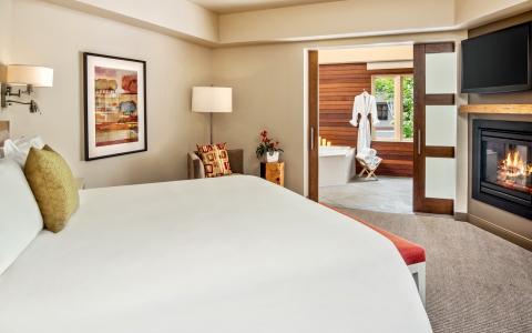 spa suite with large bathroom