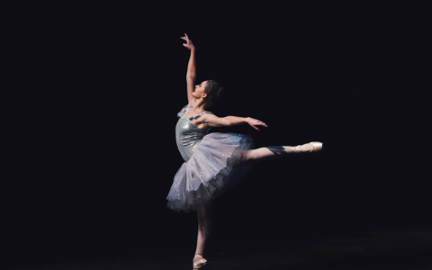 ballerina dancing in the dark