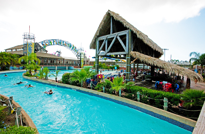 lazy river at the Schlitterbahn Waterpark