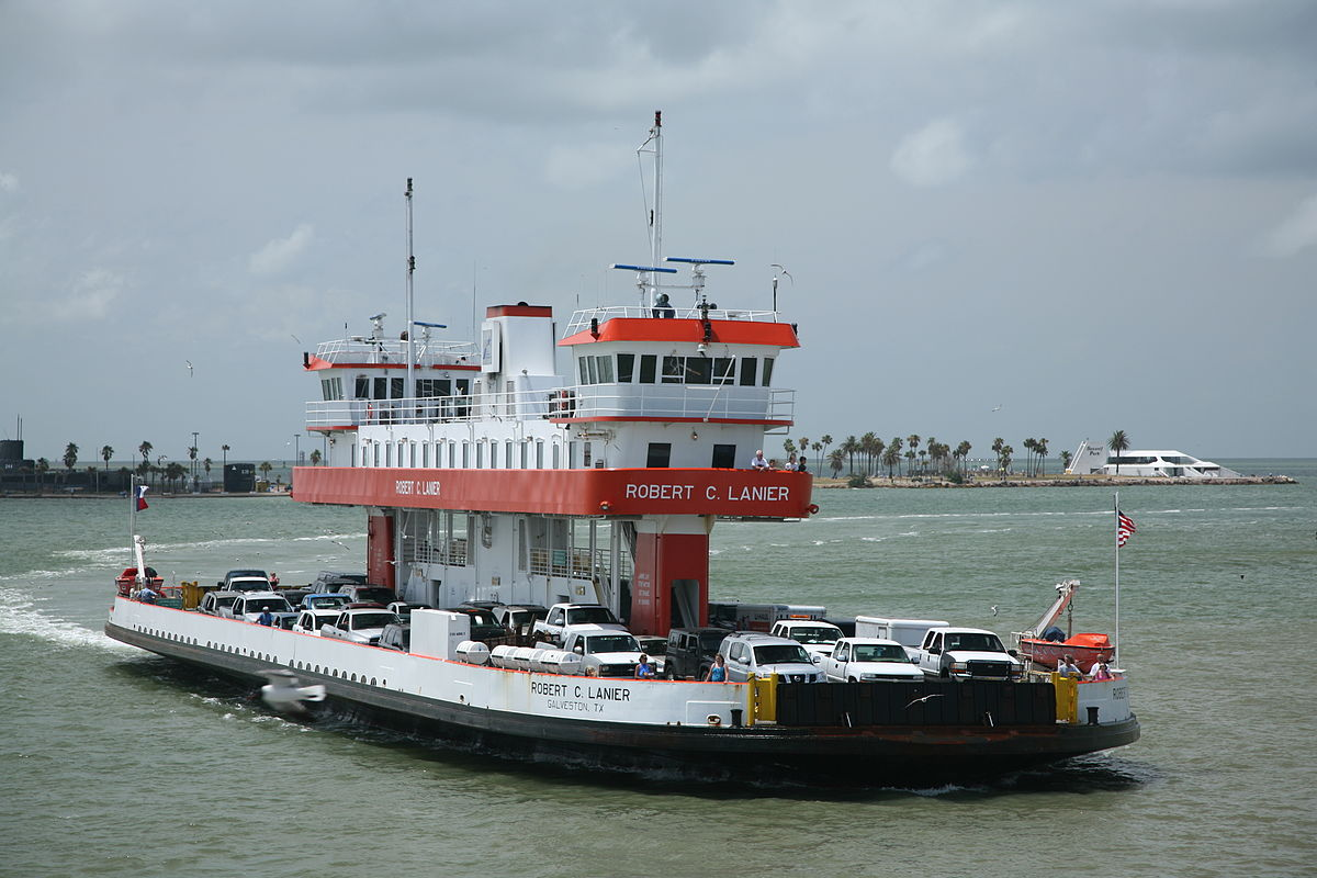 Port Bolivar Ferry in Galveston Texas