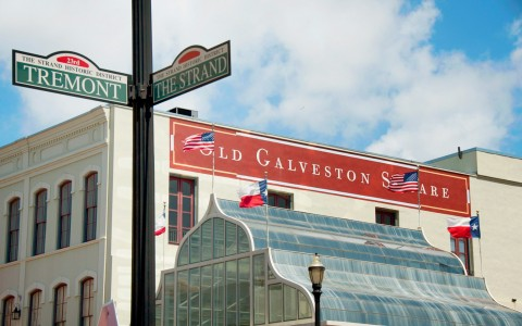 Galveston Square Street Sign