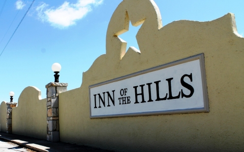 Exterior signage of Inn of the Hills