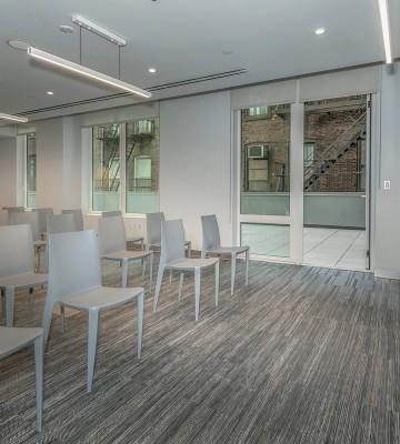 conference room with chairs and terrace