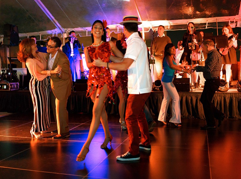 intercontinentalmiami dining blue water cafe events salsa nights