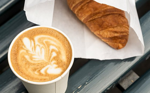 croissant and latte