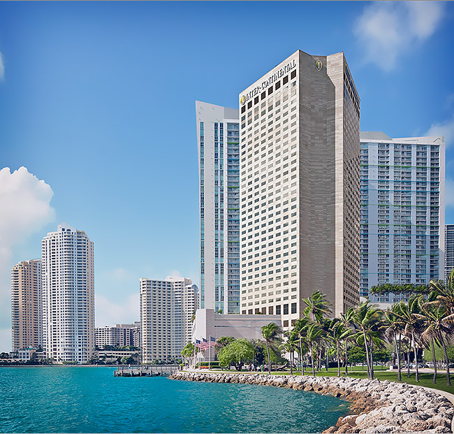 intercontinental miami exterior on the water