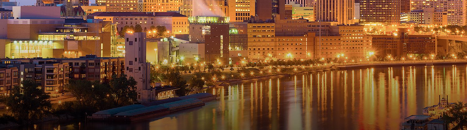 saint paul minnesota at night
