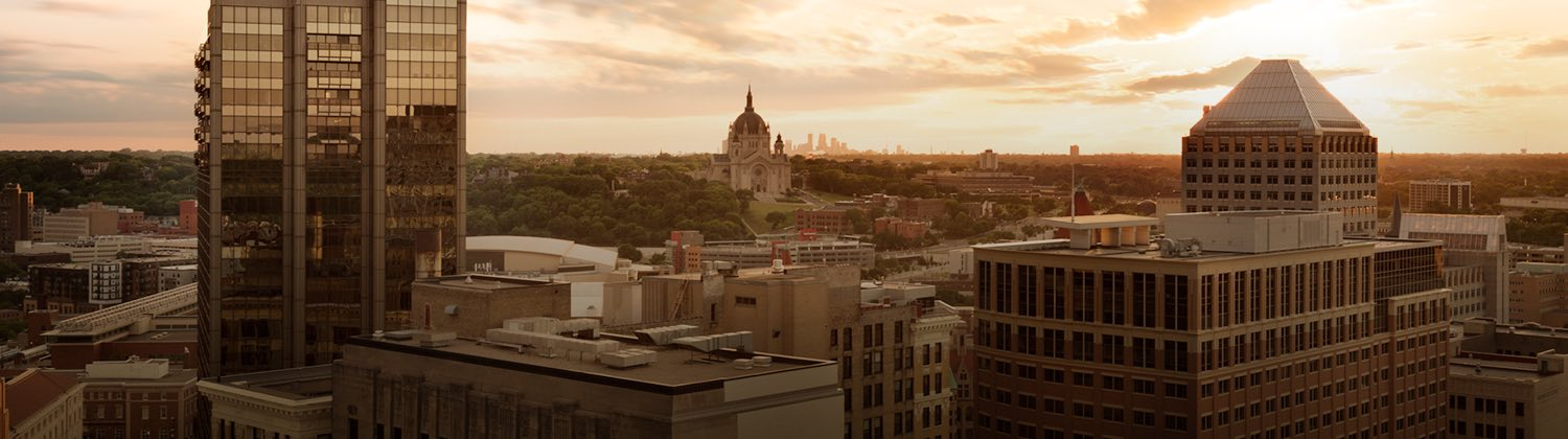 panoramic view of Saint Paul Minnesota