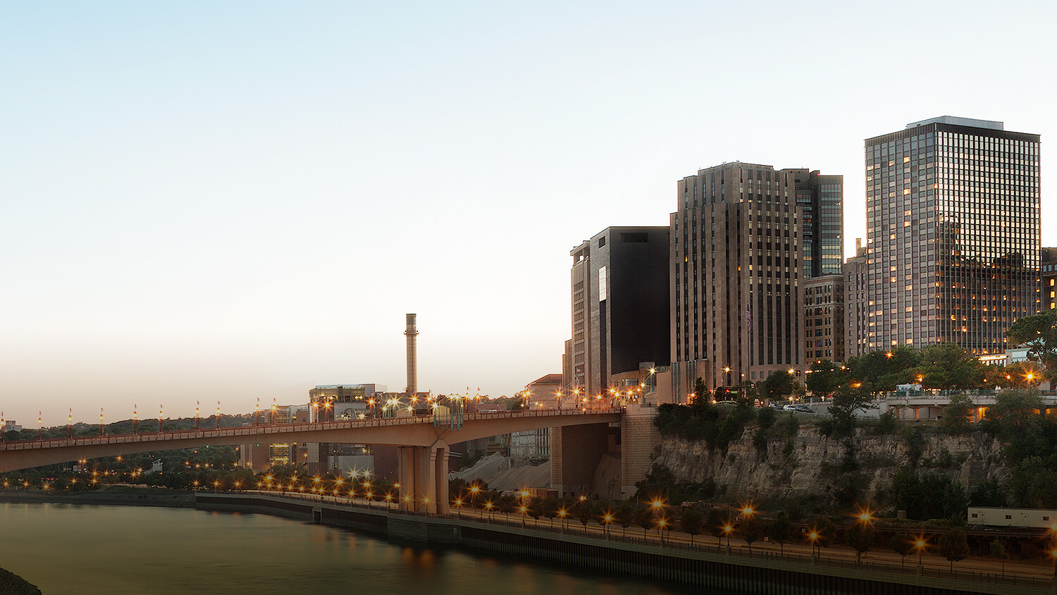 panoramic view of saint paul from the river