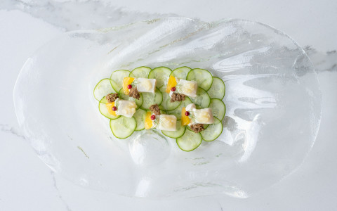 cucumber and fish salad