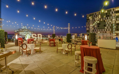 intercontinental san diego outdoor event terrace