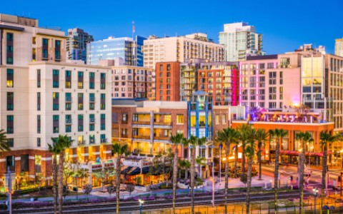 the gaslamp quarter in san diego california