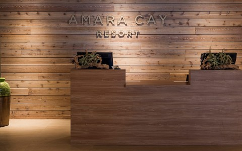 Amara Cay Resort front desk