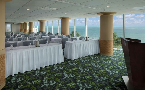 Meeting spaces with an ocean view