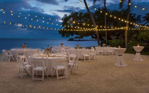 wedding setup on the beach