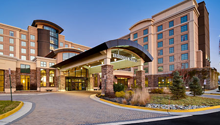 exterior of embassy suites springfield
