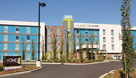 exterior of home2 suites tukwila