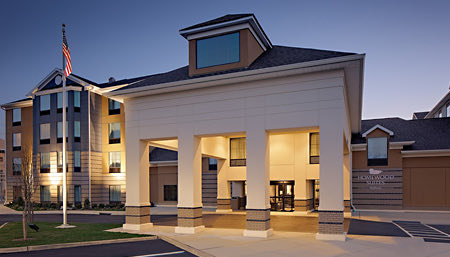 exterior of homewood suites by hilton ronkonkoma