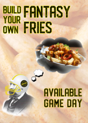 fantasy fries event poster