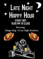 late night happy hour poster