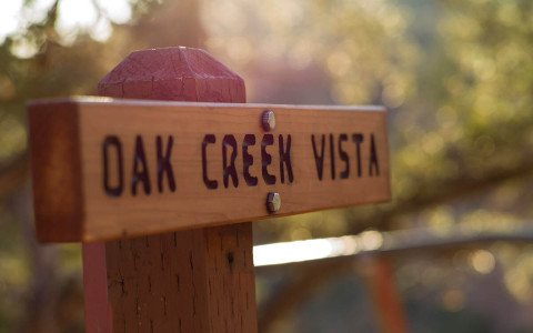 Sign for oak creek vista