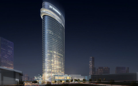 Rendering of the JW Marriott Nashville building