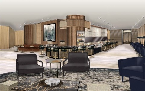 View and layout of the Lobby Bar at JW Marriott