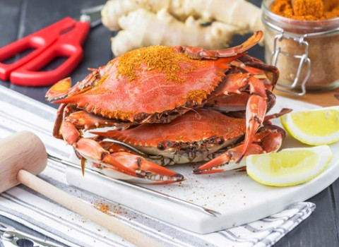 baked crabs with lemon