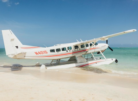 Airplane on the beach