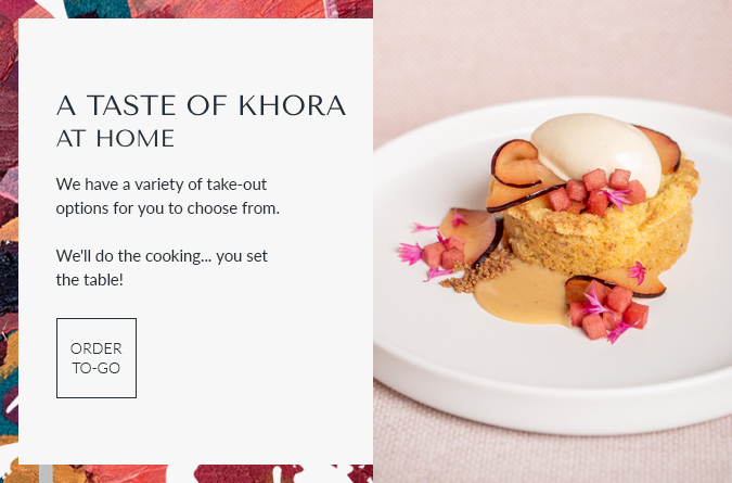 khora popup for takeout food options