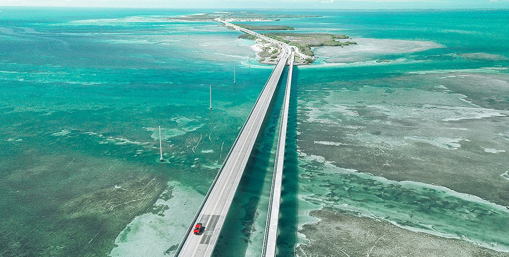 7 mile bridge in the florida keys