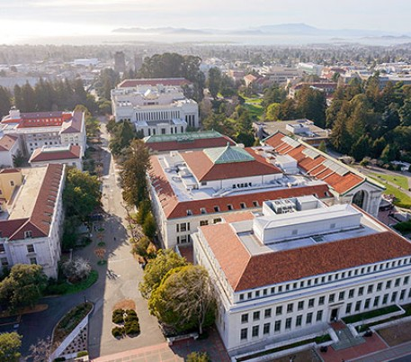 Lafayette Destination University Berkeley from above