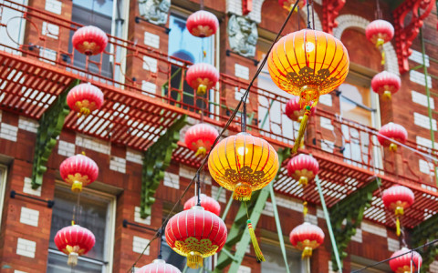 red lanterns in chinatown san francisco