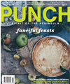 punch magazine cover with a pie