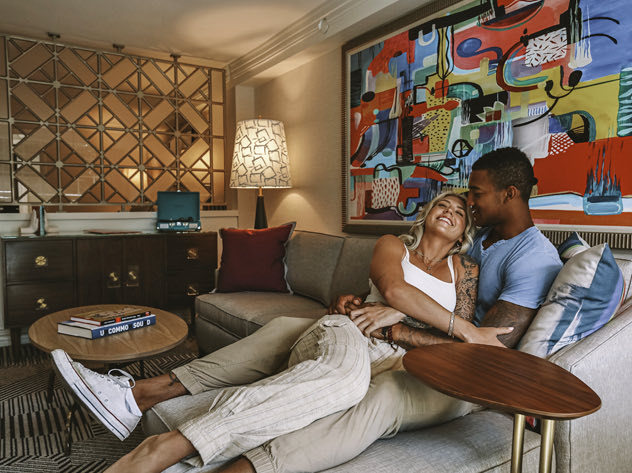 Couple in renovated suite