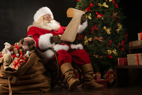 santa claus checking his list