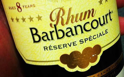 Front Label from a Bottle of Rhum Barbancourt Special Reserve