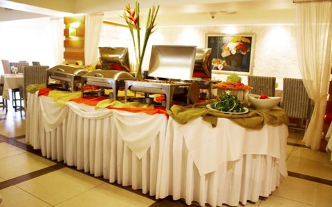 buffet in event space