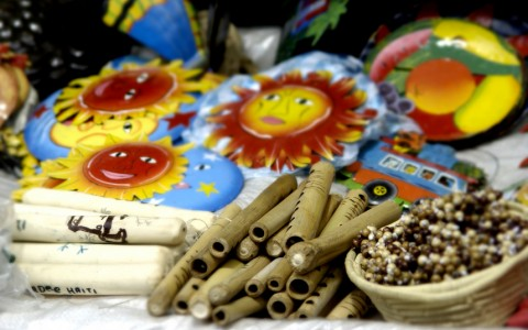 Handmade items at market