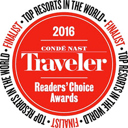 2016 Conde Nast Readers' Choice Awards - Top 50 Worldwide