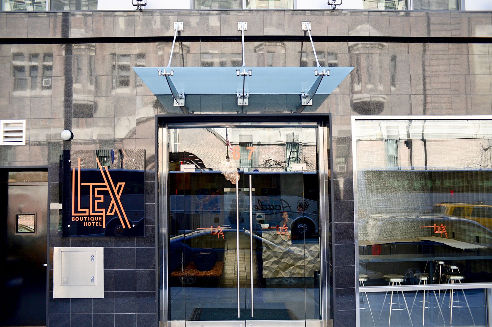 the front of the lex hotel building