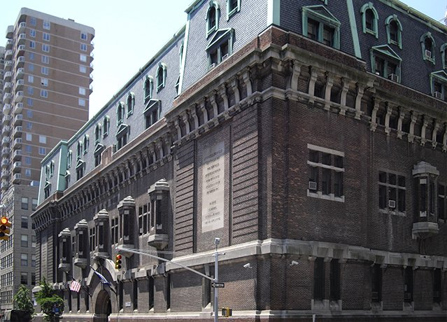 exterior of regiment armory