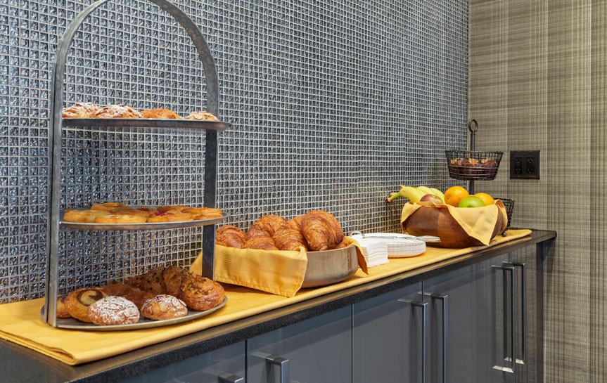 breakfast buffet with pastries