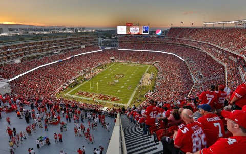 Levis Stadium fish eye view