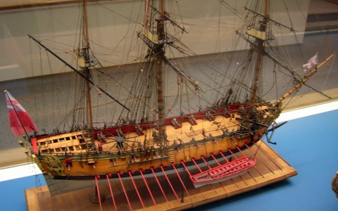 Tiny Wooden Model Ship