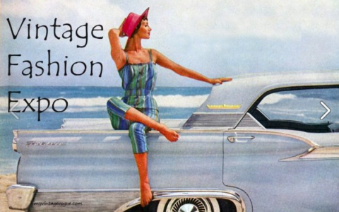 vintage fashion expo flyer