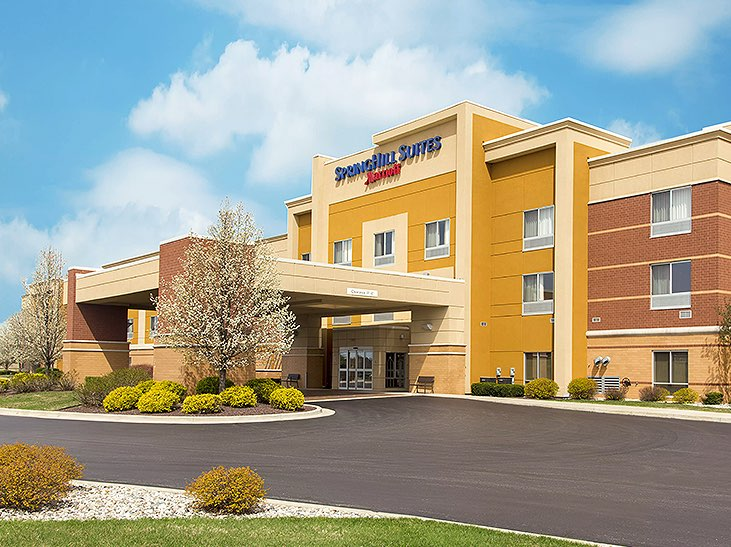 Yellow SpringHill Suites by Marriott building