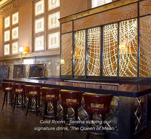 bar in the gold room used in filming for gossip girl