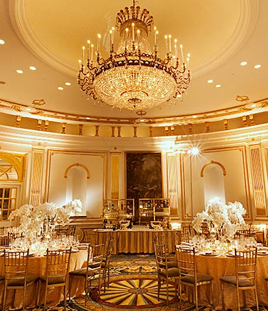 Ballroom with breathtaking chandelier
