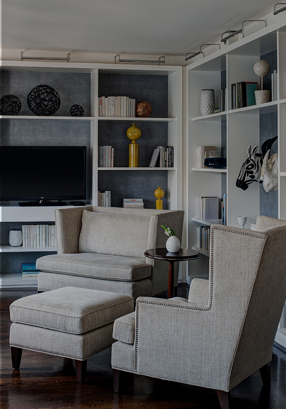 two accent chairs in living room